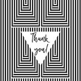 Thank you card. With stripes in vector format Stock Photo
