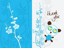 Thank you card template Royalty Free Stock Photo