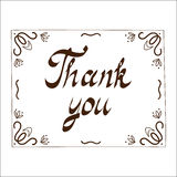 Thank you card template Royalty Free Stock Photos