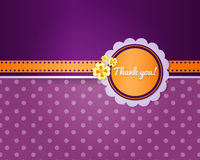 Thank you card template Royalty Free Stock Image