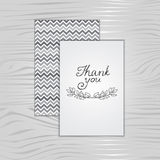 Thank you, card. Vector element for design Royalty Free Stock Photos