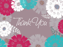 Thank you - card Royalty Free Stock Photography