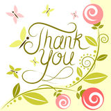 Thank you card. Vector illustration Stock Image