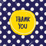 Thank you card. Vector illustration Stock Photo
