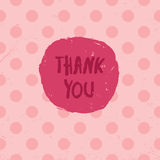 Thank you card. Vector illustration Royalty Free Stock Image