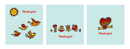 Thank you card vector illustration. Stock Image