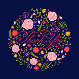 Thank you card. Vector illustration. vector illustration