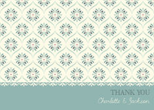 Thank You Card. Vector thank you card template. Seamless background stock illustration