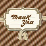 Thank you card. Vector typography thank you message Royalty Free Stock Image