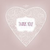 Thank you Card vintage style Stock Image