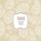 Thank you. Card vintage style Royalty Free Stock Photography