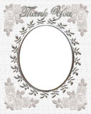 Thank you Card Wedding Frame Royalty Free Stock Images