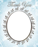 Thank you Card Wedding Frame Royalty Free Stock Photos