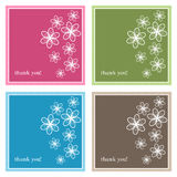 Thank you cards. Set of four thank you card for your special occasion,isolated on white.EPS file available Stock Photography