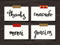 Thank You Cards Collection vector illustration