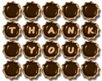 Thank you chocolate Royalty Free Stock Photos