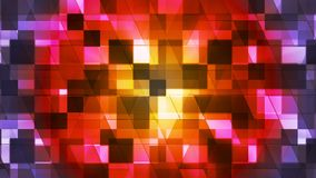 Twinkling Hi-Tech Squared Diamond Light Patterns, Multi Color, Abstract, Loopable, 4K stock footage