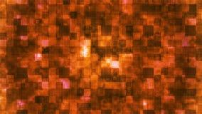 Metal Hi-Tech Squared Smoke Shifting Patterns, Orange, Abstract, Loopable, 4K stock footage