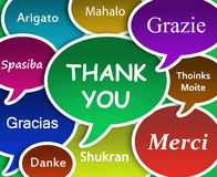 Thank you cloud. Illustration of Thank you in many languages stock illustration
