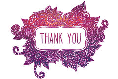 Thank you colored doodle frame Royalty Free Stock Photo