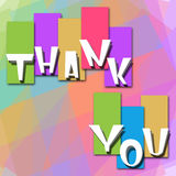 Thank You Colorful Background Royalty Free Stock Photos