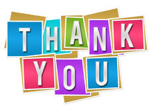 Thank You Colorful Blocks Royalty Free Stock Images