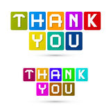 Thank You Colorful Icons Stock Photo