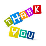 Thank You Colorful Icons Royalty Free Stock Images