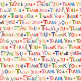 Thank you. Colorful seamless pattern. Vector illustration Royalty Free Stock Photo