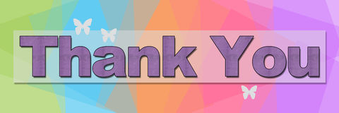 Thank You Colorful Squares Background Banner Royalty Free Stock Photos