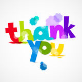 Thank You Colorful Title with Splashes Royalty Free Stock Photo