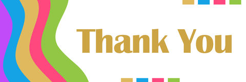 Thank You Colorful Waves Royalty Free Stock Images