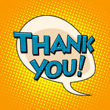 Thank you comic bubble retro text Royalty Free Stock Photos