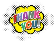 Thank you comic style illustration Royalty Free Stock Image