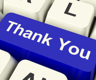 Thank You Computer Key As Online Thanks Message. Thank You Computer Key As Internet Thanks Message royalty free stock images