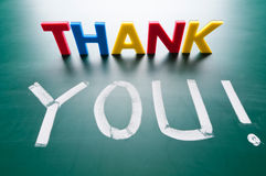 Thank you concept. Message words on blackboard royalty free illustration