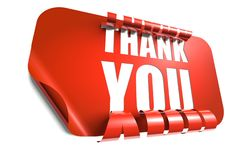 Thank you concept, cut out in sticker Royalty Free Stock Photo