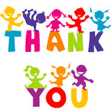 THANK YOU concept with happy children Royalty Free Stock Image