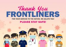 Thank you Covid-19 frontline workers poster
