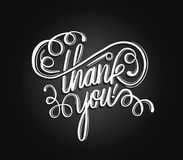Thank you in cursive script vector Royalty Free Stock Photos