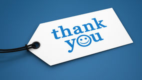 Thank You Customer Message Label Tag Royalty Free Stock Photography