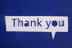 Thank you cut out from paper Royalty Free Stock Images