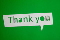 Thank you cut out from paper Royalty Free Stock Photo