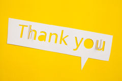 Thank you cut out from paper Stock Images