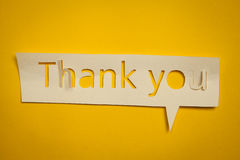 Thank you cut out from paper Royalty Free Stock Image