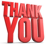 Thank You. 3d rendering text thank you concept Royalty Free Stock Photography