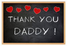Thank you Daddy Stock Image