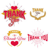 Thank You Day emblems Royalty Free Stock Photo