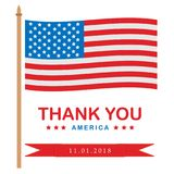 Thank you day holiday patriotic vector illustration. stock illustration
