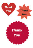 Thank You design elements Royalty Free Stock Images